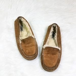 Ugg Fleece Sherpa Slip On Moccasin Slippers